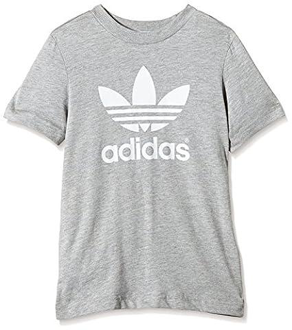Adidas trefoil t-shirt pour enfant Taille 170 Gris - Gris/blanc