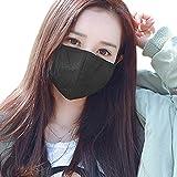 3 Set Unisex Mundschutz Baumwolle Staubschutz mit Aktivkohle Anti-Staub Gesichtsmaske Wiederverwendbar Anti-Beschlag Atmenschutz für Radfahren Schwarz