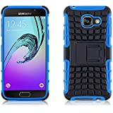 JAMMYLIZARD Samsung A3 (6) 2016 Hülle - [ ALLIGATOR ] BLAUE Doppelschutz Silikon Outdoor-Hülle
