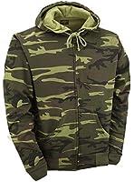 Camouflage Zipped Hoodie - Woodland Camo