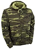 Search : Camouflage Zipped Hoodie - Woodland Camo