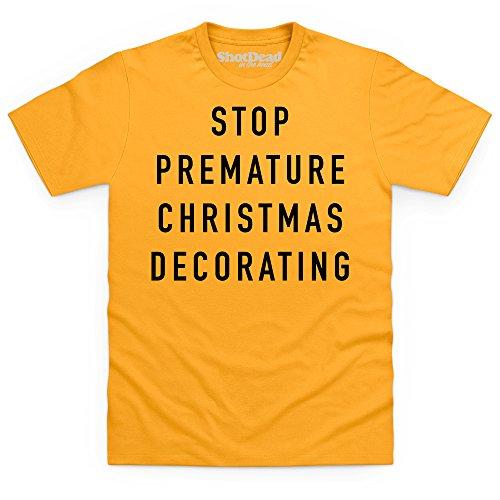 Stop Decorating T-Shirt, Herren Gelb
