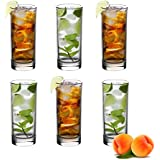 Vinsani 6 Pack Traditional Hiball Glasses for Drinks Mixer Juice Beers Cold drinks 300ml Glass