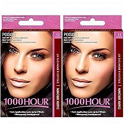 1000Hour Combo Pack 1000 Hour Eyelash & Brow Dye / Tint Kit Permanent Mascara (Dark Brown & Dark Brown)