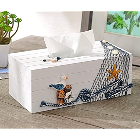 Mediterraneo moderno semplice Three - Dimensional tovagliolo di carta fatta a mano Storage Box Soggiorno (Tovagliolo Di Uccello A Mano)