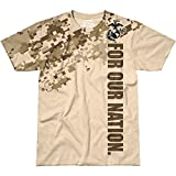 7.62 Design Herren USMC For Our Nation T-Shirt Sand Größe L