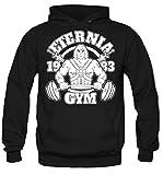 Eternia Gym Kapuzenpullover   Sport   Männer   Herren   MMA   He-Man   Masters of the Universe   Skeletor   Bodybuilding   Grayskull   Kostüm   Fun (XL, Schwarz)