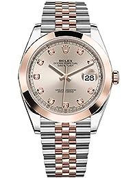 ed0c6c3d92ac Rolex Datejust 41 acero inoxidable   Everose Oro Jubilee reloj Sundust Dial  de diamante