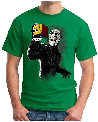 Geek-ernte (OM3 - Horror-Cube - T-Shirt Geek, M, Grün)