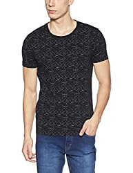 Wrangler Mens T-Shirt (8907649211717_W2472623344C_L_Black)