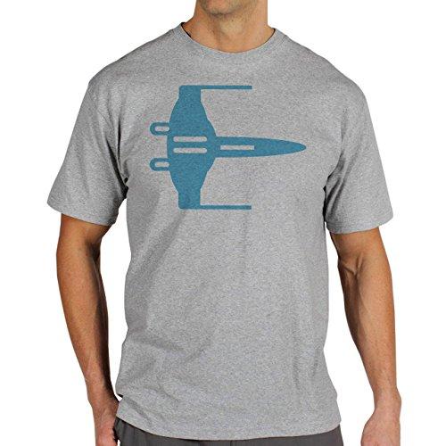 Star Wars Light Side AirShip Blue Herren T-Shirt Grau