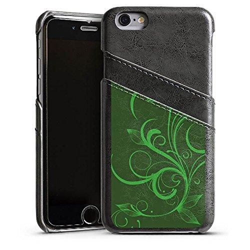 Apple iPhone 5 Housse Étui Silicone Coque Protection Ornement Vert Rankel Étui en cuir gris