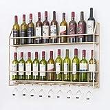 Weinregal Wohnzimmerwand-Dekorationsregal des Schmiedeeisenweinregalwandweinkabinetts Kreatives (Farbe : Gold, größe : 100 * 12 * 62cm)