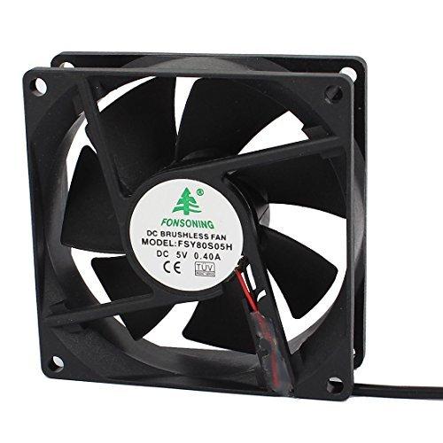80 x 80 x 25mm DC Brushless Kühlung Gebläse-Ventilator USB-Ladegerät 5V 0.4A (5v Gebläse)