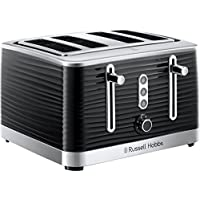 Russell Hobbs 24381 Inspire High Gloss Plastic Four Slice Toaster, Black