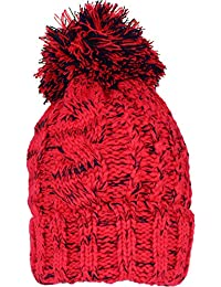 TeddyT's Men's Chunky Cable Knit Thermal Winter Bobble Hat
