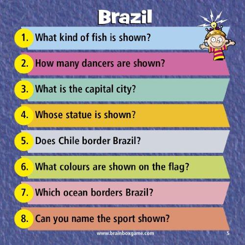 Imagen 4 de Green Board Games BrainBox The World - Juego de preguntas sobre el mundo (en inglés)