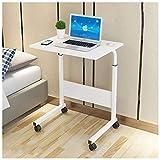 SMC table Klapptisch Anhebbarer mobiler Schreibtisch - Zuhause Kinderarbeitstisch Grundschule Schreibtisch Bett klappbarer Laptop-Schreibtisch (Color : Weiß)