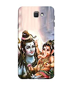 PrintVisa Designer Back Case Cover for SAMSUNG J5 PRIME (Ganpati ji playing in shivji lap)