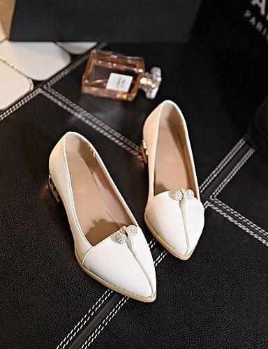WSS 2016 Chaussures Femme-Bureau & Travail / Habillé / Décontracté-Noir / Rouge / Blanc-Gros Talon-Talons / Bout Pointu / Bout Fermé-Talons- red-us7.5 / eu38 / uk5.5 / cn38