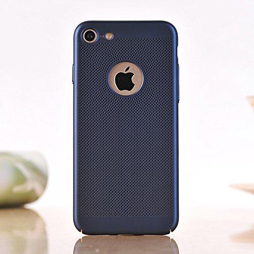 Für Apple IPhone 7 Fall Normallack-Metallaluminium-Legierungs-Ineinander greifen-Kasten Ultra dünner dünner leichter Hitze-Dissipation-rückseitige Abdeckung ( Color : Rose Gold ) Blue
