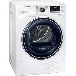 Samsung DV5000 DV81M50103W/EG Sécheur à pompe à chaleur, A ++, OptimalDry - Indicateur de niveau de séchage, condensation commandé par capteur, Filtre 2-en-1 QuickCheck, Comfort