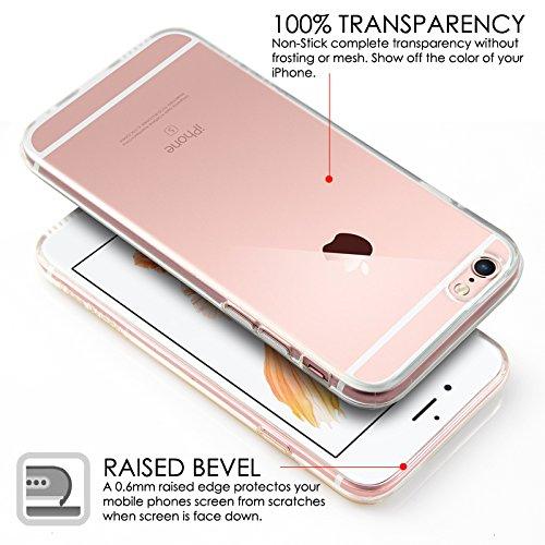 Case Buddy TM - Cover in silicone trasparente e protezione schermo per iPhone 6 [4.7] e iPhone 6 Plus [5.5] grigio