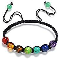 7 chakras pulsera ajustables yoga jade ágata kundalini mujer terapias magneticas, curación energética
