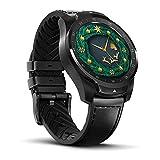 Ticwatch PRO Smartwatch con sensore di frequenza cardiaca (Android Wear, GPS, Wear OS di Google, NFC) Orologio Sportivo Compatibile con Android e iOS Display Multistrato e Cinturino in Pelle, Nero