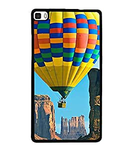 printtech Hot Air Balloon Colored Back Case Cover for Huawei P8