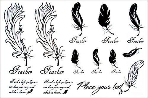 Imperméables modèles féminins GRASHINE haute qualité et la vente Hot réaliste et tatouage temporaire mode plumes noires et blanches autocollant de tatouage totem