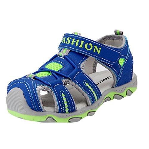 Bonjouree Sandale Garçon Chaussures Souples en Cuir Artificiel Ete de Plage