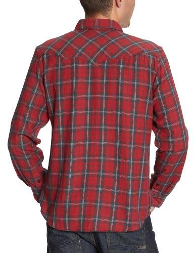 Wrangler KAROHEMD W5546N447 Herren , Lang - regulär Rot (Red )