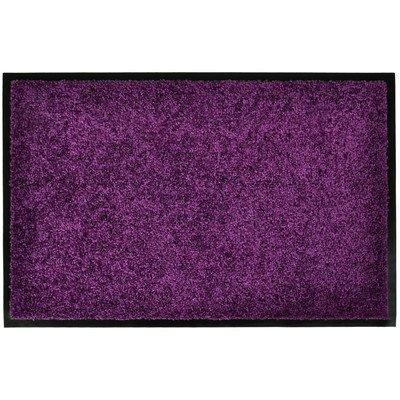 Wash & Clean Hochwertige Schmutzfang Fußmatte, verschiedene Farben und Größen, Größe:90x150;Farbe:purple