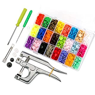 460 Sets T5 Fasteners Snap Button + Popper Studs Snap Plier Kit
