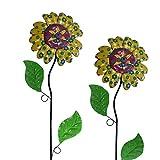 Unbekannt 2er Set Gartenstecker Blume - Beetstecker 135 cm Hoch