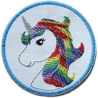 Einhorn Patch zum aufbügeln unicorn Applikation gestickt für Mädchen