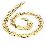 Opk Jewellery Powerful Men's Chain Necklace 18K Yellow Gold Plated Link Chain Neckwear