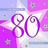 Servietten mit dem Alter des Geburttagskindes - 80 Jahre, 16 Stück