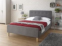 Ashbourne Grey Hopsack Fabric Bedstead (4ft6 Double)