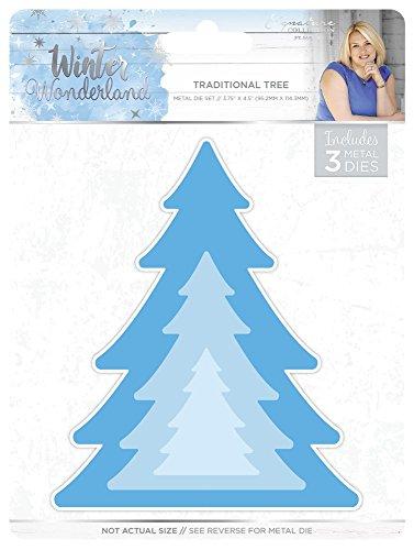 Winter WonderlandMetall-Stanze. Metallstanzschablone - traditioneller Baum silber