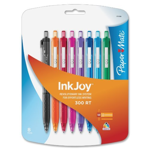 paper-mate-inkjoy-300-rt-retractable-medium-point-ballpoint-pens-assorted-colors-8-pack-1781564-size