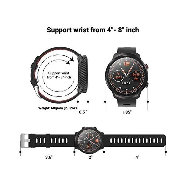 CatShin Smart Watch Tracker de Actividad, Pantalla táctil smartwatch Fitness Tracker, Reloj Deportivo Bluetooth IP67 a Prueba de Agua con Monitor de frecuencia cardíaca, Compatible con Android iOS 7