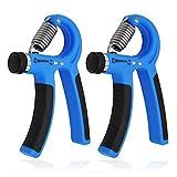labewin mano agarre ejercitador de mano fortalecedor, 10–40kg (22–88lbs)–fortalecer agarre, mano exprimidor, antebrazo Grip, mano, dedo fortalecedor de agarre de ejercicio, (Set de 2), azul