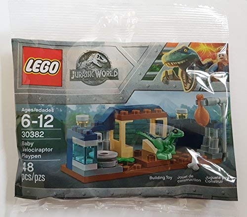 Baby Velociraptor Playpen Jurassic World 30382bagged Lego Polybag c54LRjqS3A