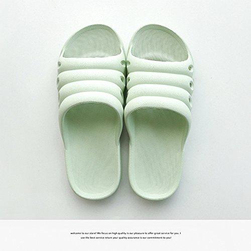 DogHaccd pantofole,Pantofole donne coppie stare al chiuso in estate una famiglia di tre bambini bambini bambino maschio anti-slittamento raffreddare bagno pantofole Verde chiaro4