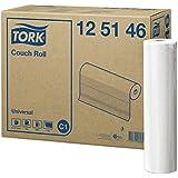 Tork 125146 Drap d'examen Universal - Blanc - 1 pli - Compatible avec le système C1 - 38 x 39 cm - 8 x 50,16 m