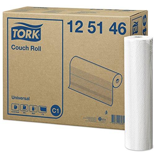 Tork 125146 Papel para camilla Universal de 1 capa compatible con el...