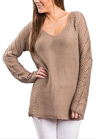 SunIfSnow - Sweat à capuche spécial grossesse - Body chemise - Uni - Manches Longues - Femme - marron - XX-Large