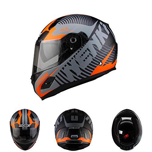 Oztklife Nenki Completo Casco Moto Casco Racing con Materiale FRP È più Sicuro per Soddisfare Gli Stati Uniti DOT Standard,L
